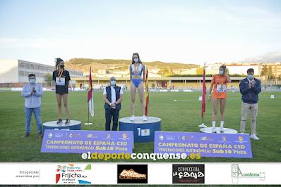 Paula López, vencedora en Salto de Altura (FOTO: El Deporte Conquense)