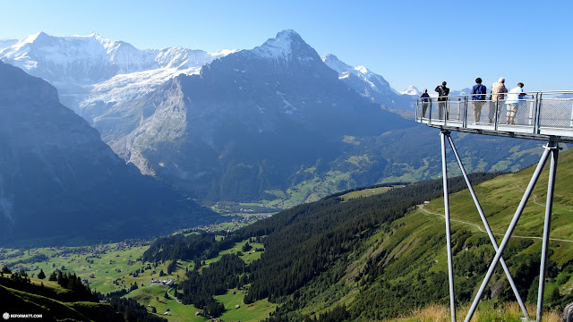 unbelievable view from the FIRST mountain in Switzerland in Grindelwald, Bern, Switzerland
