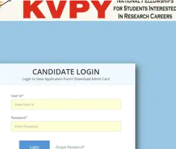 Download KVPY 2021 admit card
