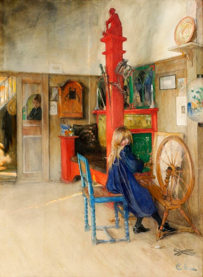 Carl Larsson - Spinning Wheel