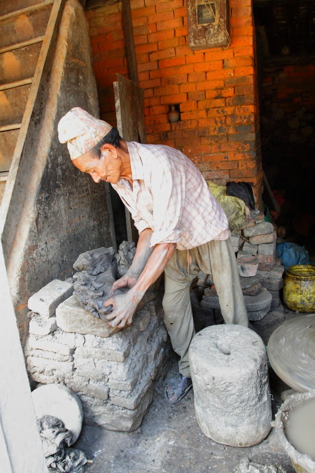 Pottery Artisan at work at Bhaktapur