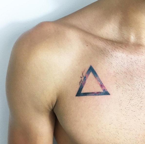 Esta aquarela triângulo
