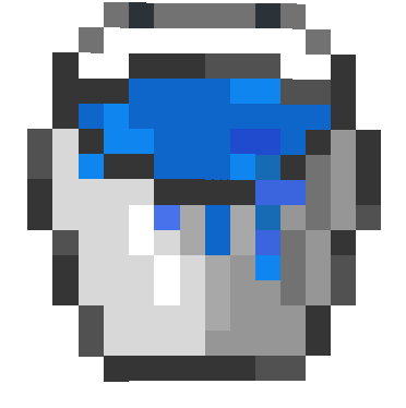 I Prepared an Appearance for You by Changing the Colors and Thickness of the Water Bucket in the Minecraf, I hope you like it.