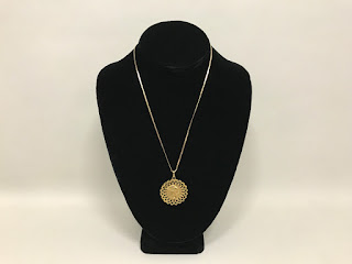 14K Gold Egyptian Pendant Necklace