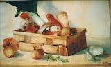 "martwa natura ""kuchenna"", olej, płótno, 40x60cm"