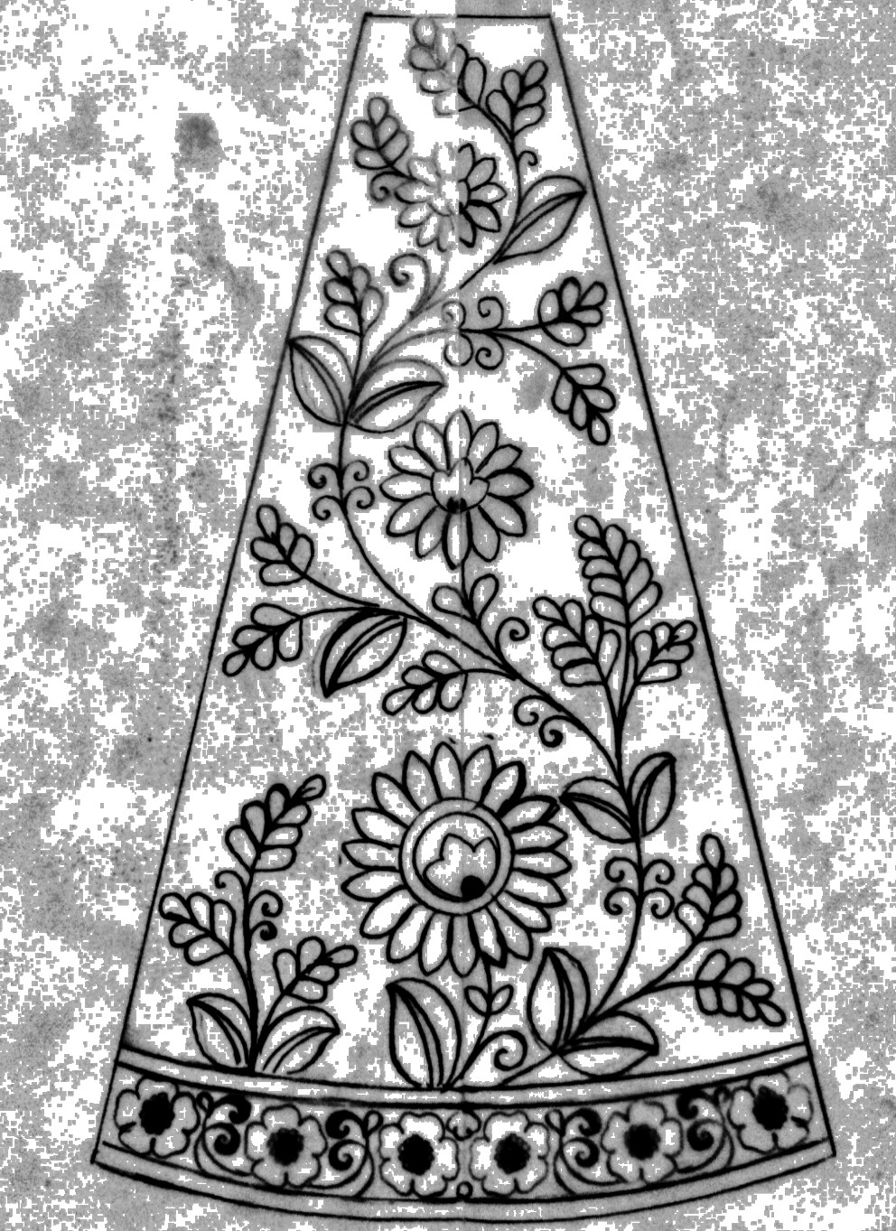 Lehenga design sketch for hand emroidery/fashion designer sketch for embrodiary lehenga design/download free embroidery images