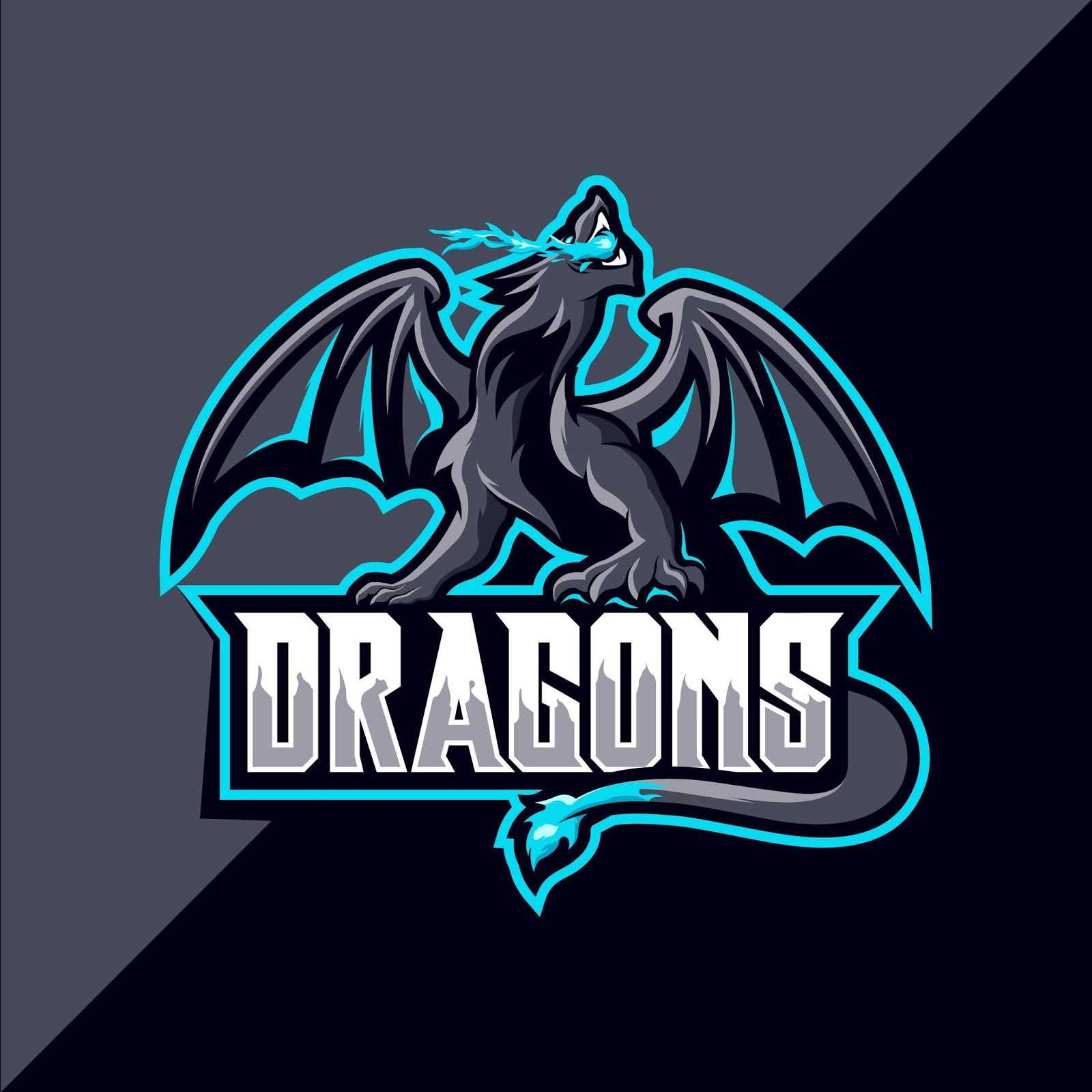 Dragon Sport Mascot Logo Free Download Vector CDR, AI, EPS and PNG Formats