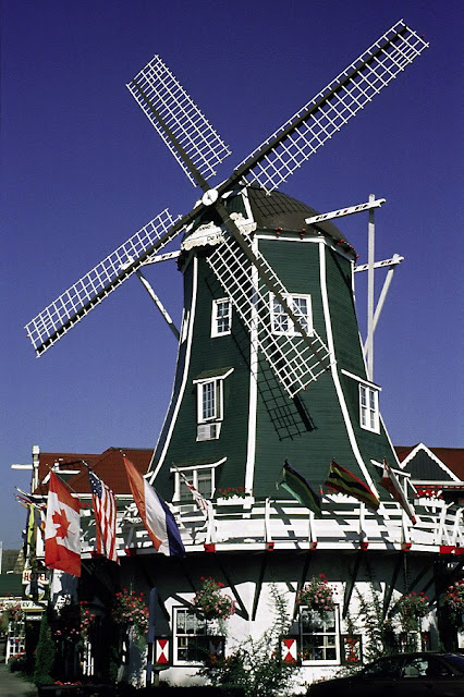 A well-known sight in Lynden is a 72-foot high windmill featuring moving blades. / Credit: Jim Poth
