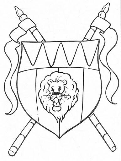 Escudo del rey para colorear : Colorir desenhos