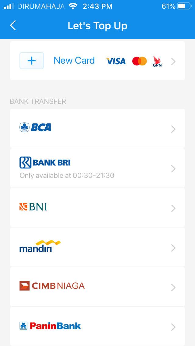 2. Pilih Bank