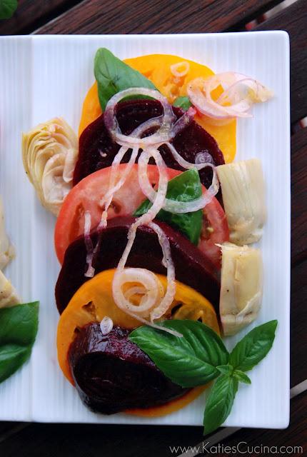 Beet, Tomato, & Artichoke salad