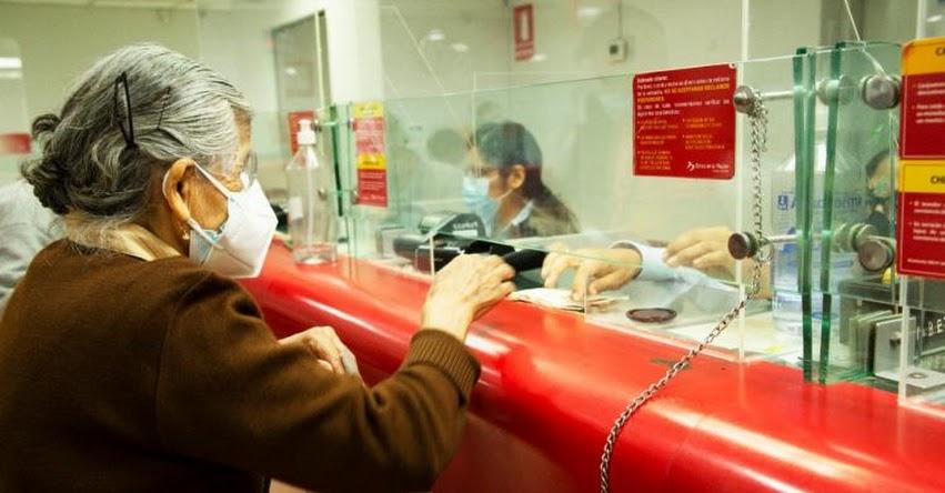 Banco de la Nación iniciará pago de pensiones a jubilados de la ONP este jueves 7 de octubre