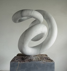 Tetsu: CARRARA MARBLE, 2017: W 46cm, H 73 cm, D 53 cm; currently being exhibited www.jmlondon.com