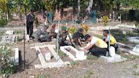 HUT Bhayangkara ke-73, TNI-Polri Bersih-bersih TMP