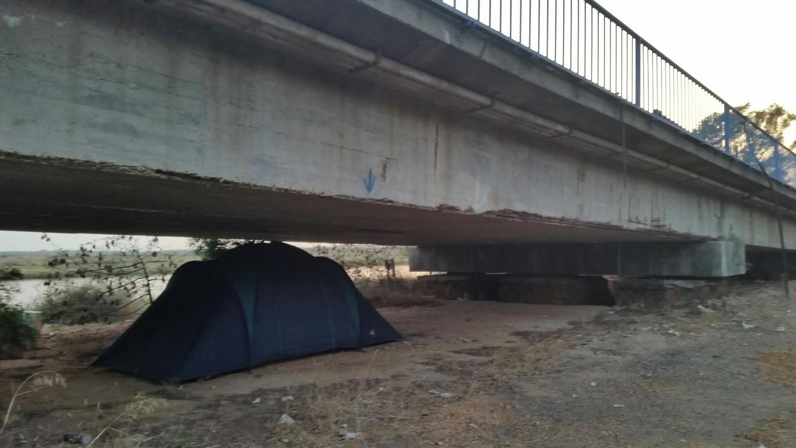 slapen onder de brug