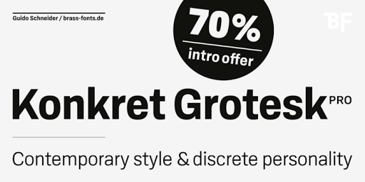 Download BF Konkret Grotesk Pro™ Fonts by Brass Fonts