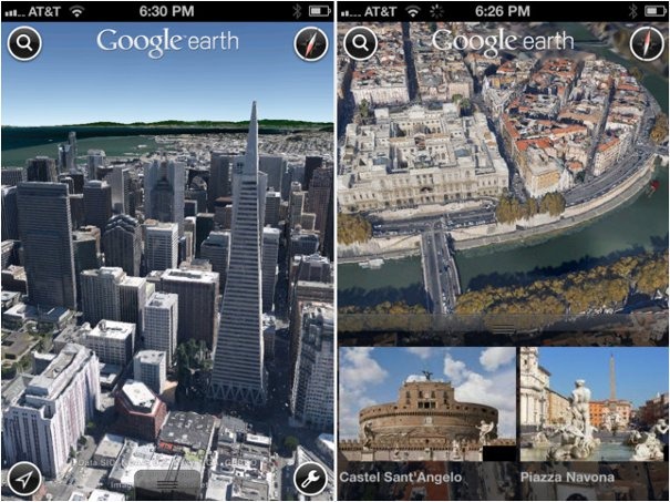 Google Earth 3D Maps for iPhone 4S