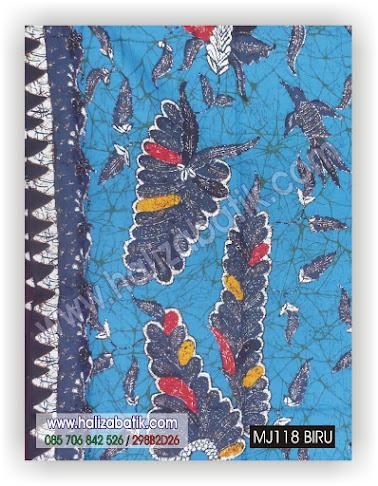 Baju Batik Modern, Gambar Baju Batik, Grosir Baju Batik, MJ118 BIRU