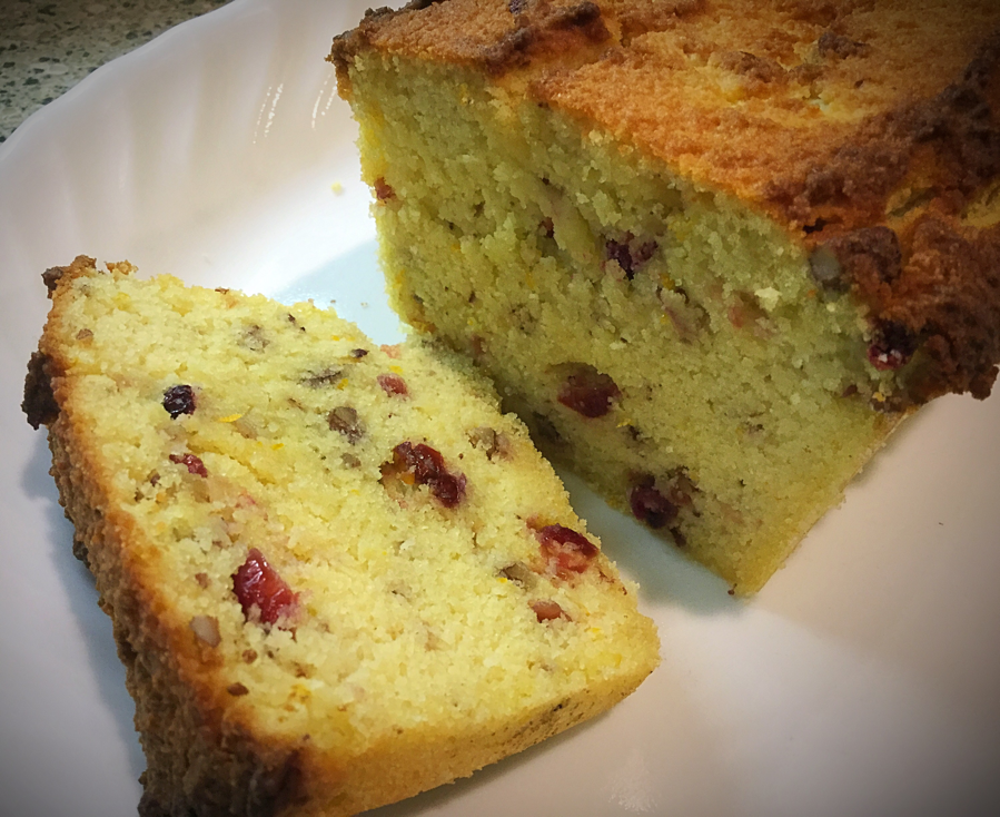 Low Carb Cranberry Orange Pound Cake