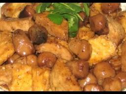 ĐẬU HỦ XÀO NẤM RƠM – XÀO NẤM ĐÔNG CÔ Sautéed tofu with mushrooms Pâtes de soya sauté avec champigon des pailles