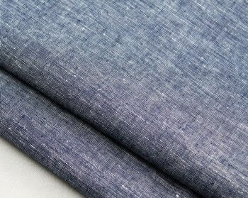Tela chambray en color azul grisaceo