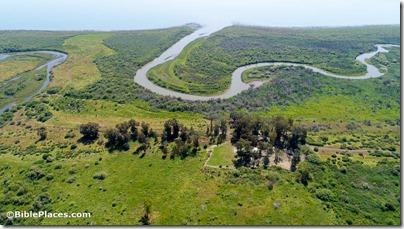 El-Araj, Jordan River, and Sea of Galilee aerial from north, ws040617534