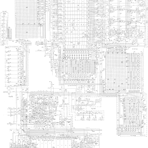 Very large schematic of a TI calculator chip, assembled by Ken Shirriff from https://www.google.com/patents/US3934233