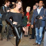 WWW.ENTSIMAGES.COM -     Lizzie Cundy   arriving    at Dance Til Dawn - press night   Aldwych Theatre, London November 3rd 2014Strictly Come Dancing duo Flavia Cacace-Mistry and Vincent Simone  bring their new show inspired by the Golden Age of Hollywood to the West End for a limited ten week run.                                                    Photo Mobis Photos/OIC 0203 174 1069