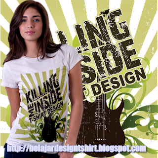 Belajar design t-shirt | KILLING ME INSIDE T-SHIRT DESIGN