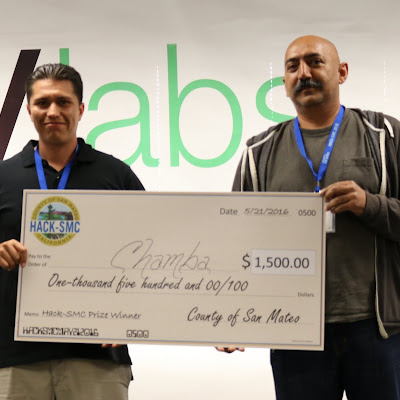Team Chamba won a top prize with their text-based service that matches laborers with employers.