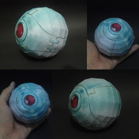 Saiyan Pod Papercraft Attack Ball