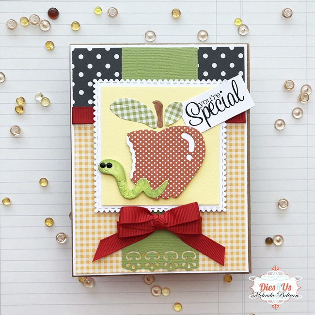 apple with worm card