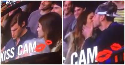 Mulher beija desconhecido no momento kiss cam depois de namorado se recusar