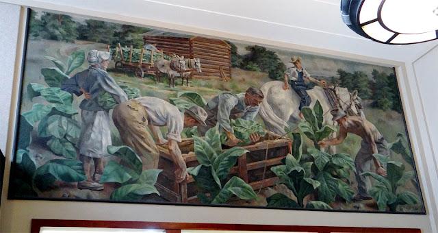 WPA mural 'Tobacco', Reidsville, NC