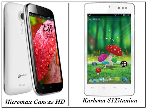 Karbonn S1 Titanium vs Micromax A116 Canvas HD