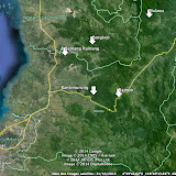 Lieux de prospection à l'est de Makassar