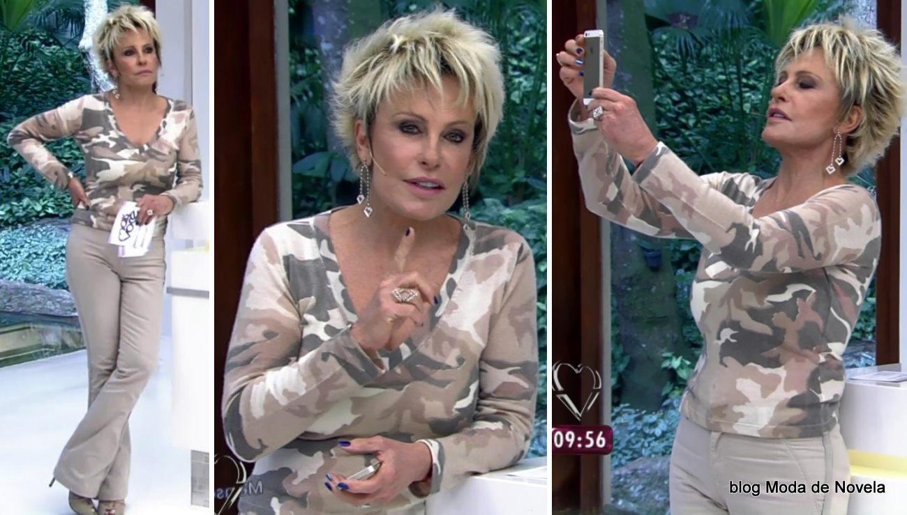 moda do programa Mais Você - look da Ana Maria Braga dia 19 de maio