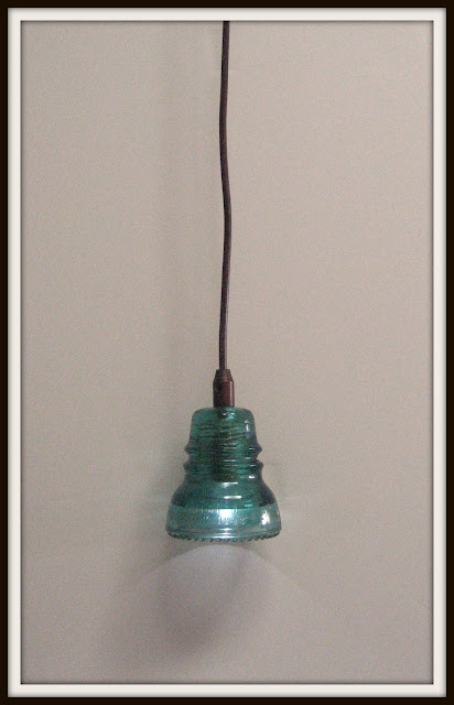 Remodelaholic recycling glass insulators into pendant light for Insulator pendant light
