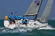 J/111 sailing fast at Cowes Race Week