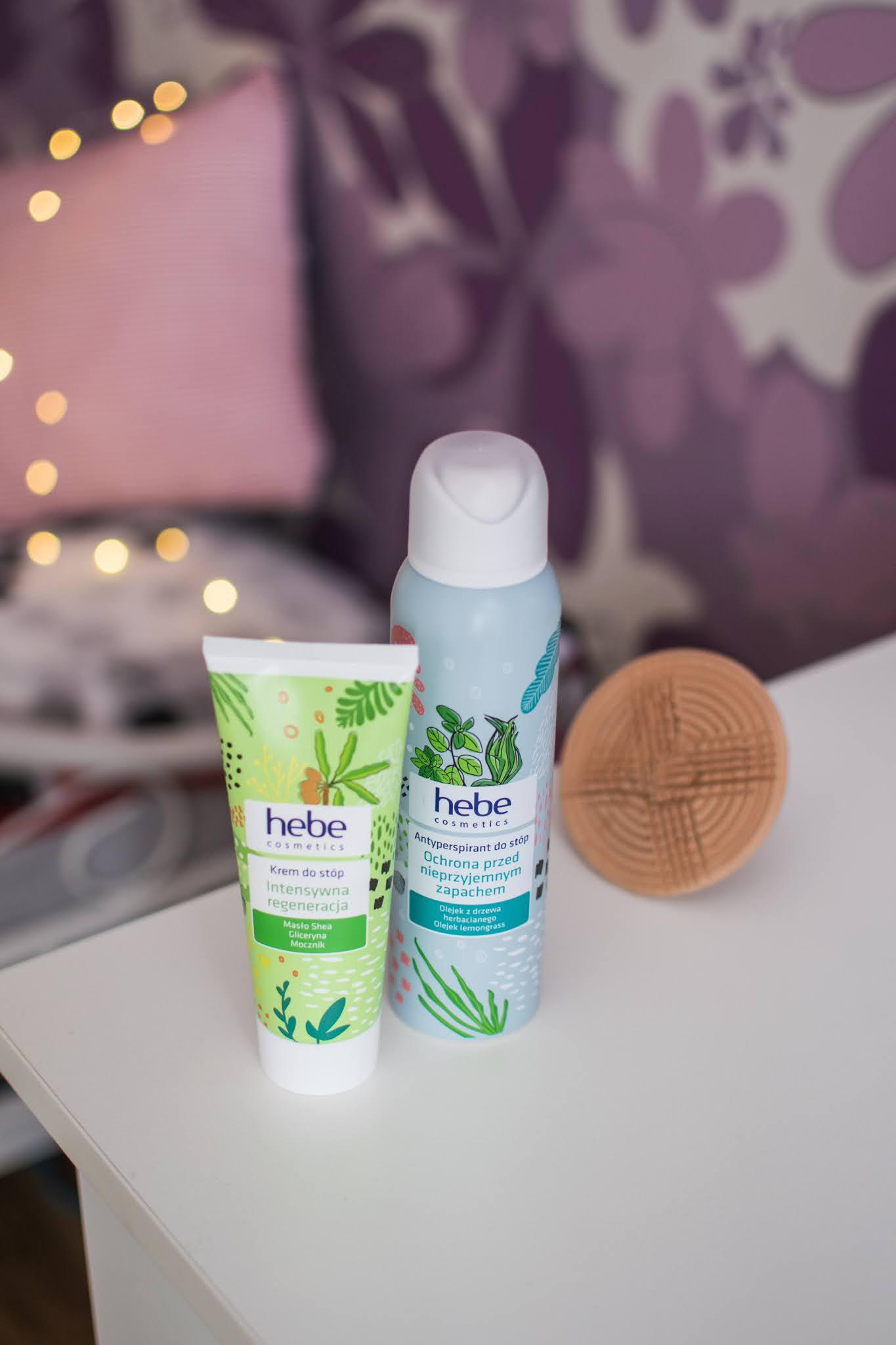 Pielęgnacja stóp z Hebe Cosmetics | Krem regenerujący i antyperspirant