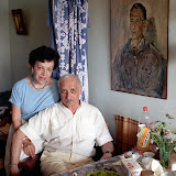 Vasili Katanyan & Inna Genz. Russian Filmmakers. Moscow, Russian Federation, 1991