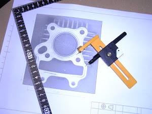 FIカブ50シリンダーの型紙作り