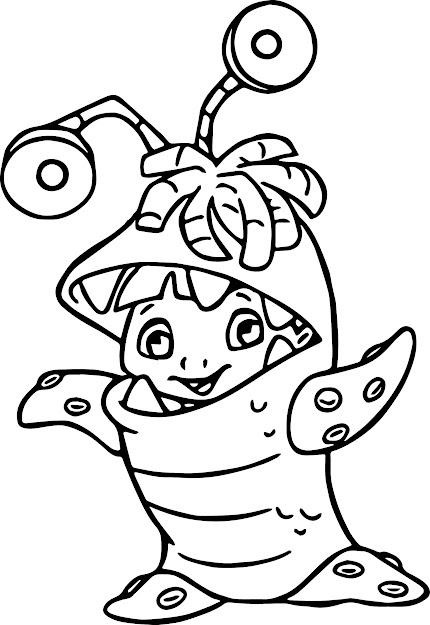 Monsters Inc Coloring Pages With Disney Monsters Inc Coloring Pages