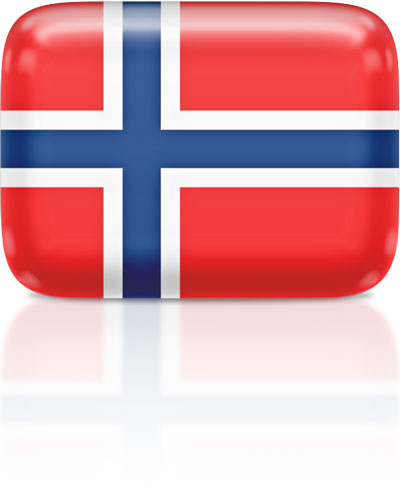 Norwegian flag clipart rectangular