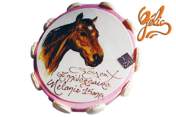 Le monde des enfants et les animaux - Decoration gateau cheval ...