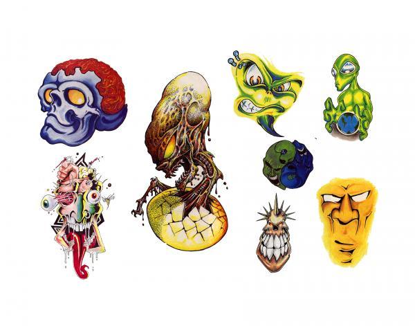 Design Of Horror Tattoo 8, Fantasy Tattoo Designs