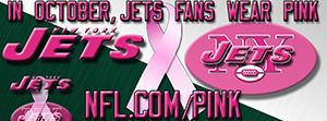 Jets Breast Cancer Awareness Pink Facebook Cover Photo