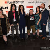 OIC - ENTSIMAGES.COM - Candice Redford, Liam Regan , Serena Chloe Gardner, Laurence R Harvey, Dani Thompson, David Curtis and Dan Palmer at the Film4 Frightfest on Monday   of  Banjo UK Film Premiere at the Vue West End in London on the 31st  August 2015. Photo Mobis Photos/OIC 0203 174 1069