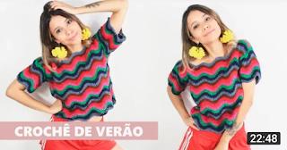 Blusa de crochê Ana Maria