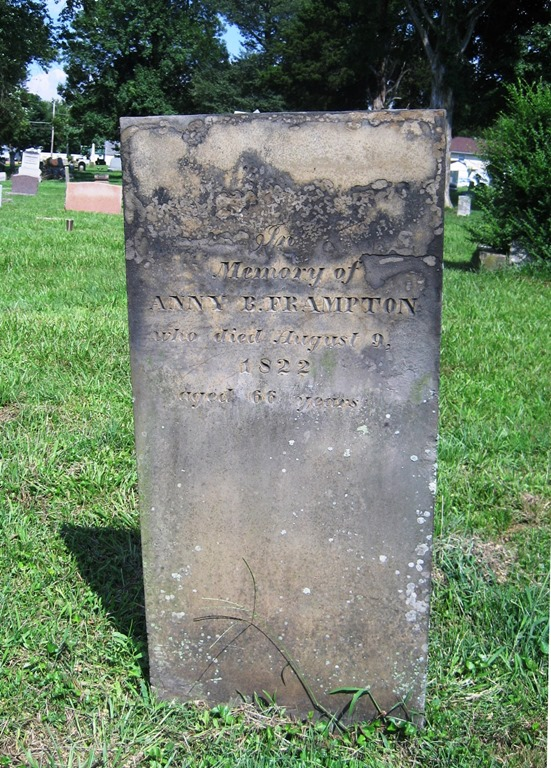 FRAMPTON_Anny_headstone_died 9 Aug 1822_BurlingtonGreenlawnCem_FayetteLawrenceOH_enh